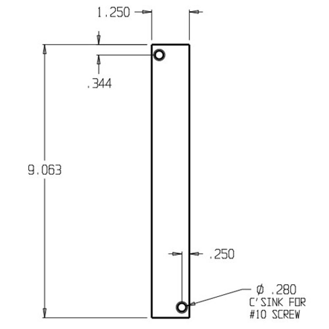 EPT-1-BP Don Jo Filler Plate Dimensional View