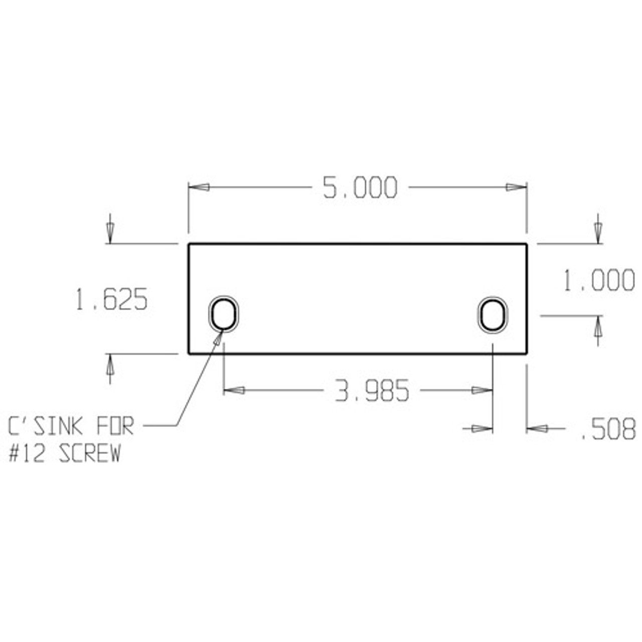 FF-50-CP Don Jo Filler Plate Dimensional View