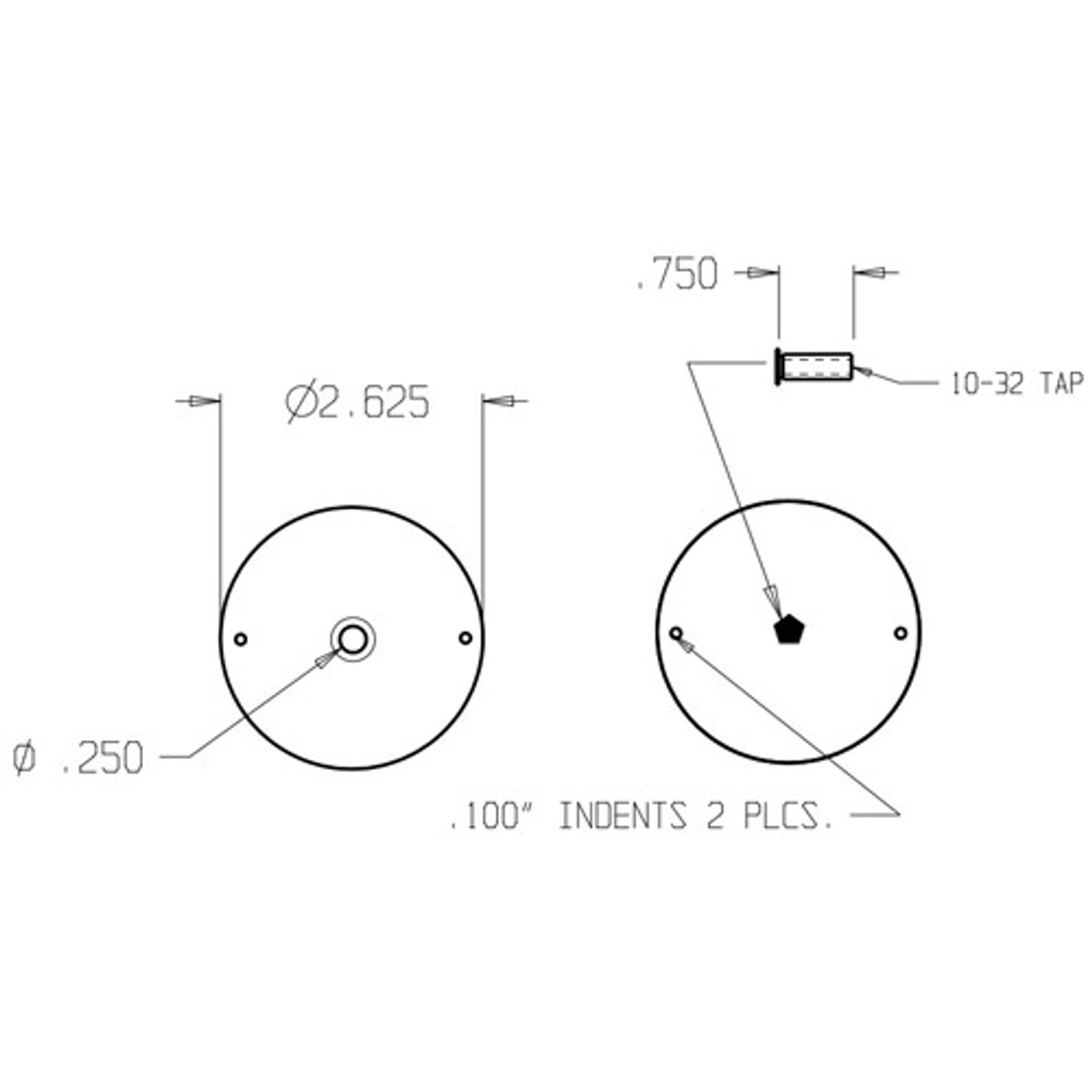 BF-161-DU Don Jo Hole Filler Plate Dimensional View