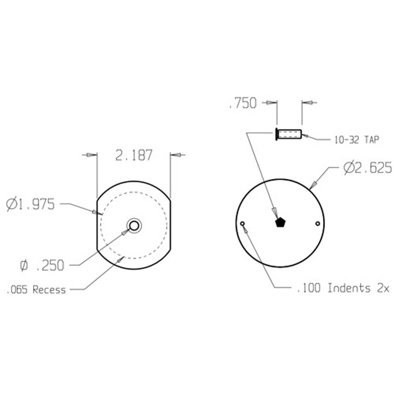 PDF-161-SL Don Jo Hole Filler Plate Dimensional View