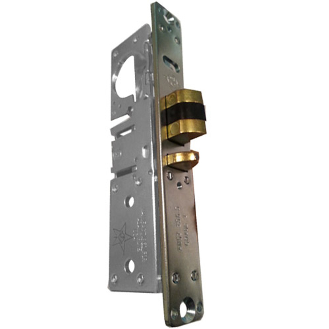 4512-15-102-628 Adams Rite Standard Deadlatch with Bevel Faceplate in Clear Anodized Finish