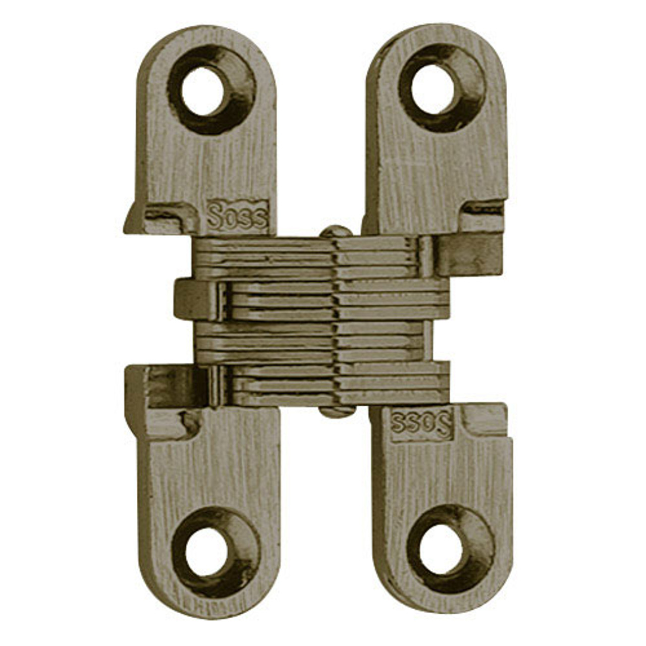 101C-US14 Soss Invisible Hinge in Bright Nickel Finish