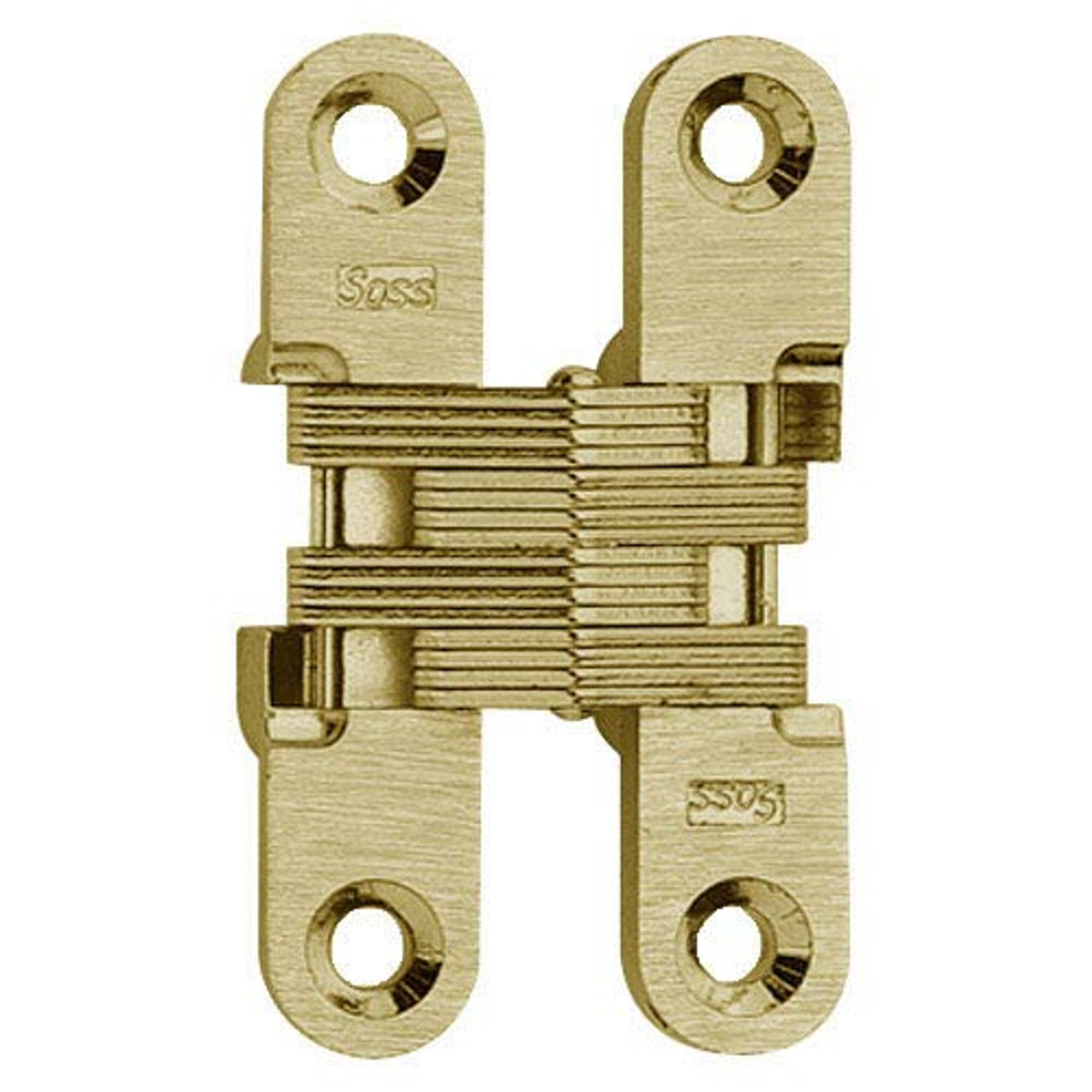 204C-US3 Soss Invisible Hinge in Bright Brass Finish
