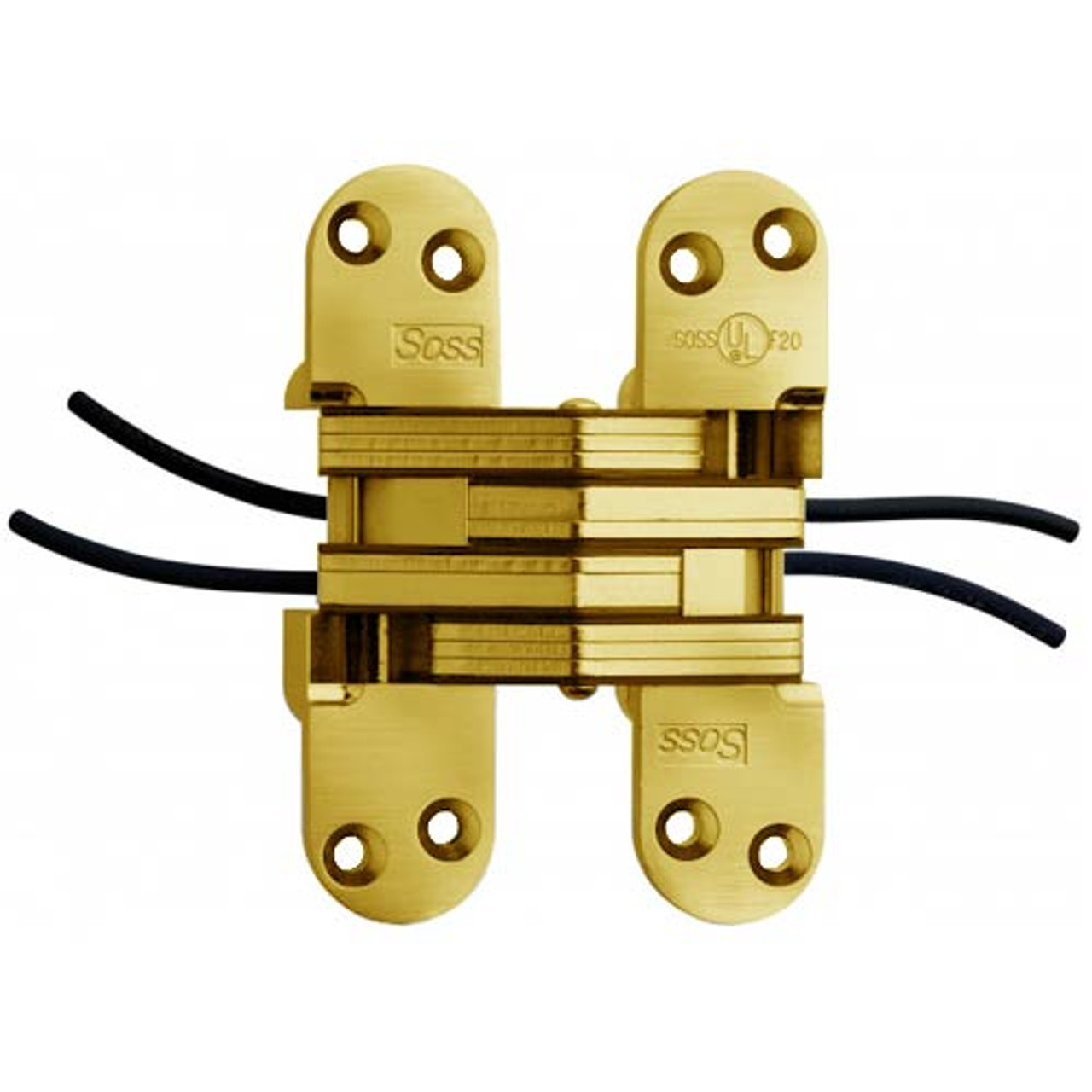 218PT1-US3 Soss Invisible Hinge in Bright Brass Finish