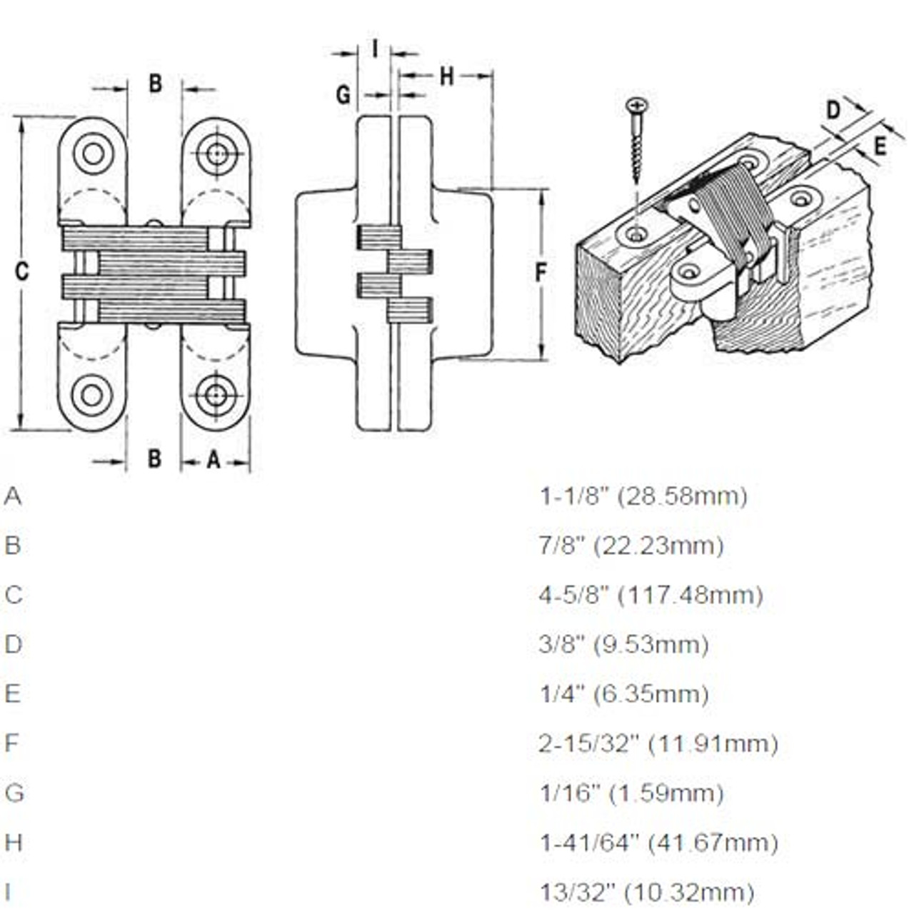 218PT1-US3 Soss Invisible Hinge
