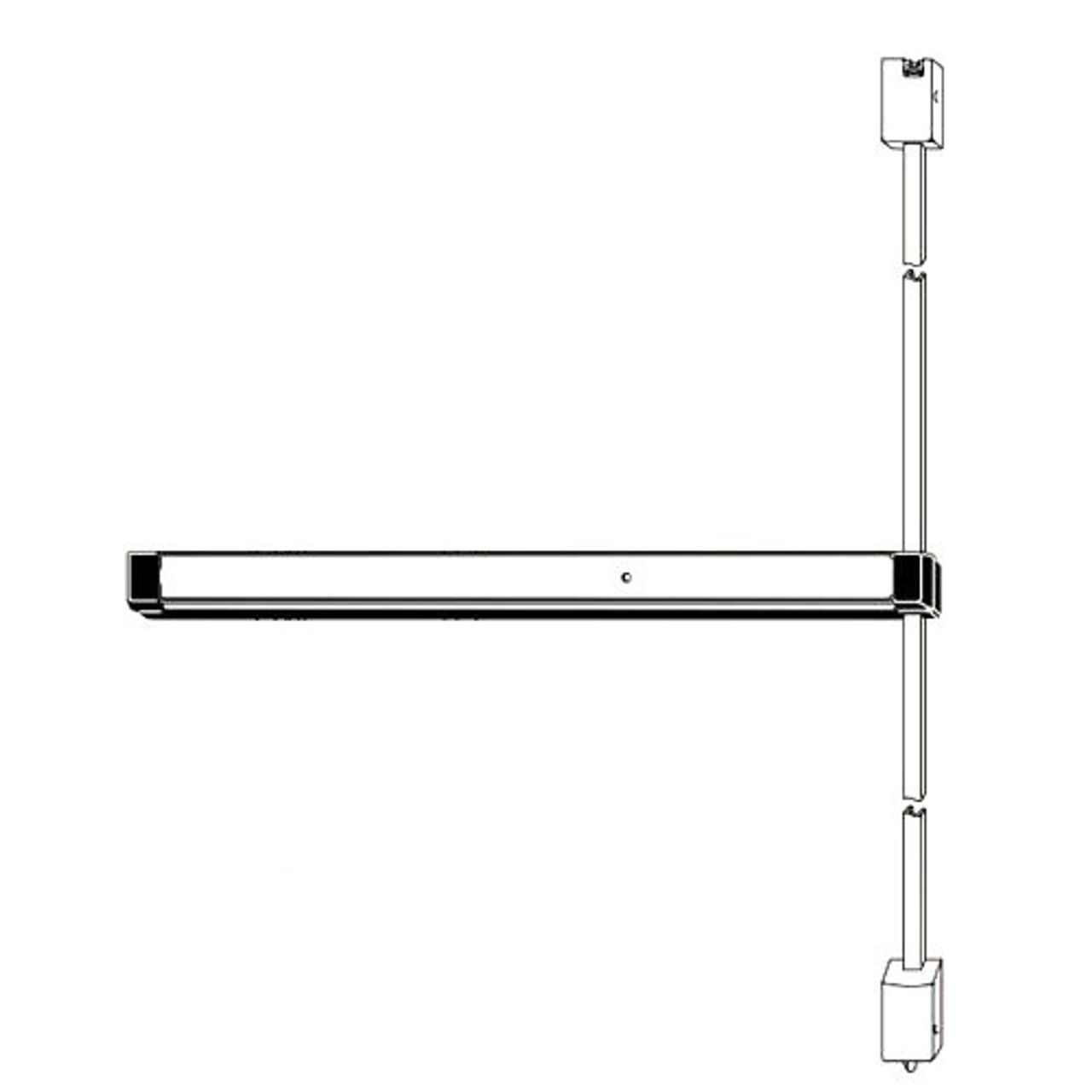 Adams Rite Narrow Stile Surface Vertical Rod Exit Device