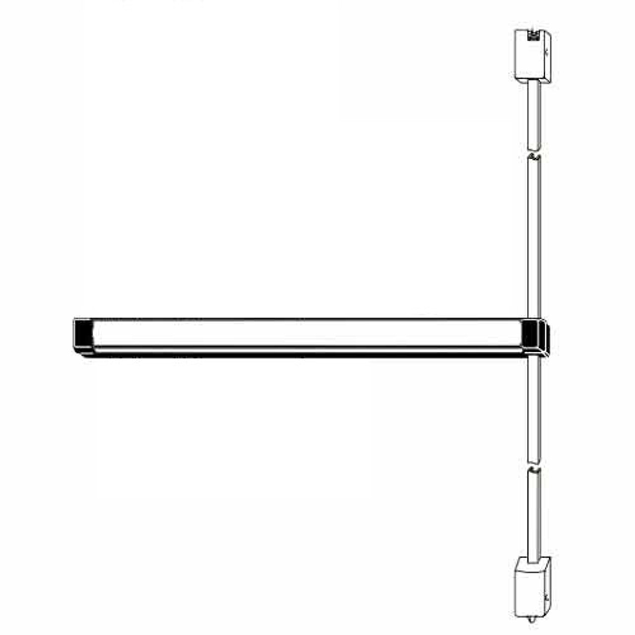 Adams Rite Surface Vertical Rod Exit Device for Wood and Hollow Metal Doors