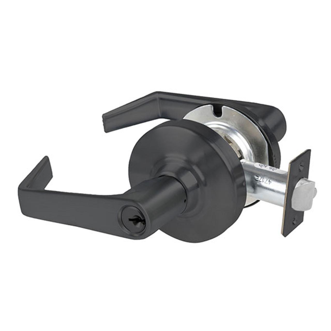 AL50PD-SAT-609 Schlage Saturn Cylindrical Lock in Antique Brass