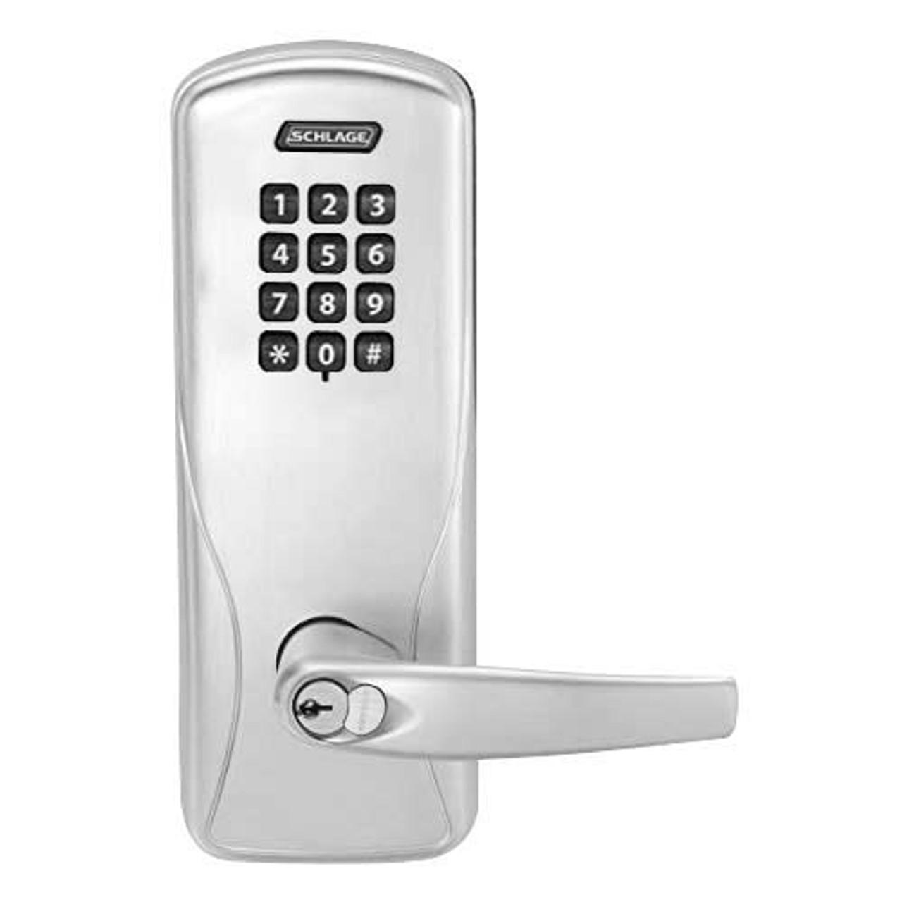 Electronic Keyless Deadbolt Lock with Remote Satin Chrome Smart Locks