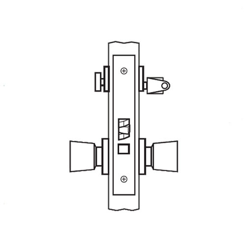 AM27-HTHD-03 Arrow Mortise Lock AM Series Institutional Privacy Knob Trim with HTHD Design in Bright Brass