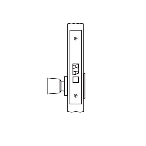 AM07-HTHA-03 Arrow Mortise Lock AM Series Exit Knob Trim with HTHA Design in Bright Brass