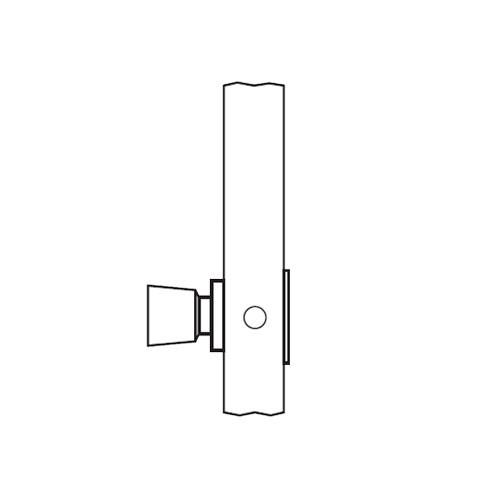 AM08-HTHA-04 Arrow Mortise Lock AM Series Single Dummy Knob Trim with HTHA Design in Satin Brass
