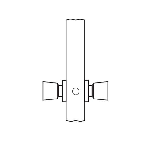 AM09-HTHA-03 Arrow Mortise Lock AM Series Full Dummy Knob Trim with HTHA Design in Bright Brass