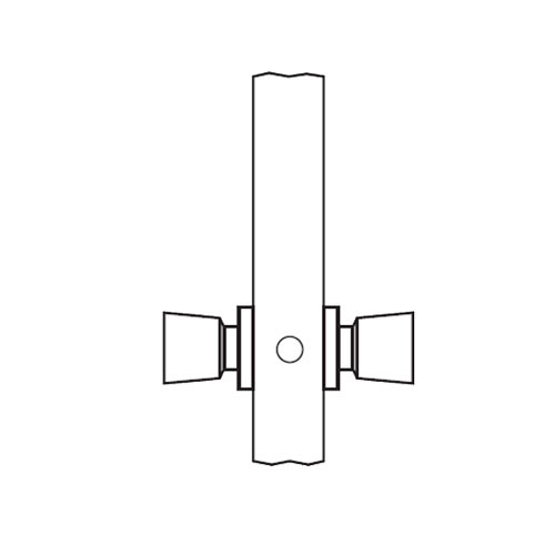 AM09-HTHA-04 Arrow Mortise Lock AM Series Full Dummy Knob Trim with HTHA Design in Satin Brass