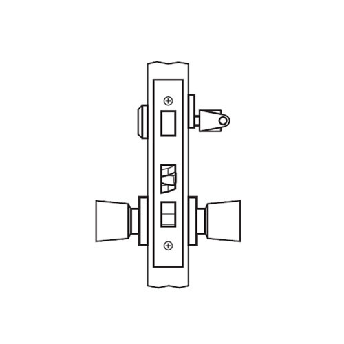 AM19-HTHA-03 Arrow Mortise Lock AM Series Dormitory Knob Trim with HTHA Design in Bright Brass