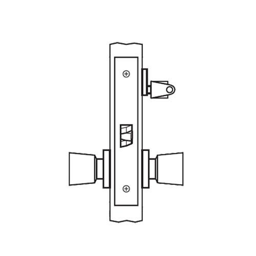 AM24-HTHA-03 Arrow Mortise Lock AM Series Storeroom Knob Trim with HTHA Design in Bright Brass