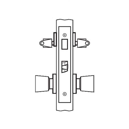 AM31-HTHA-03 Arrow Mortise Lock AM Series Storeroom Knob Trim with HTHA Design in Bright Brass