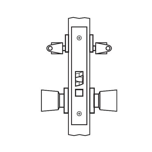 AM37-HTHA-04 Arrow Mortise Lock AM Series Classroom Knob Trim with HTHA Design in Satin Brass
