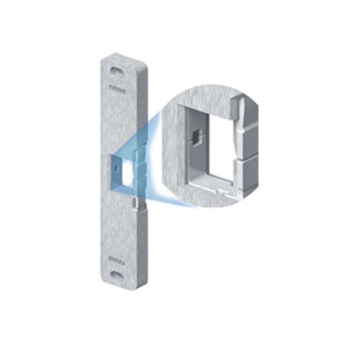 4800FLB-US32 Series Fire Rated Surface Mounted Electric Strike in Polished Stainless Steel