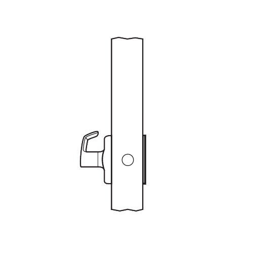 BM08-VH-03 Arrow Mortise Lock BM Series Single Dummy Lever with Ventura Design and H Escutcheon in Bright Brass