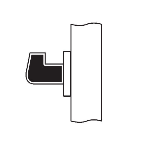 RL08-SR-04 Arrow Cylindrical Lock RL Series Single Dummy Lever with Sierra Trim Design in Satin Brass