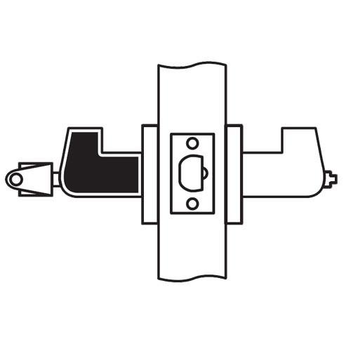 CL12-OC-26D-RHR Arrow Cylindrical Lock with Orion Lever Design in Satin Chrome
