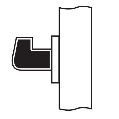 CL08-LC-04-RHR Arrow Cylindrical Lock with Lunar Lever Design in Satin Brass
