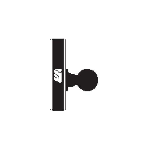 MA161-QN-605 Falcon Mortise Locks MA Series Exit/Connecting QN Lever with Escutcheon Style in Bright Brass
