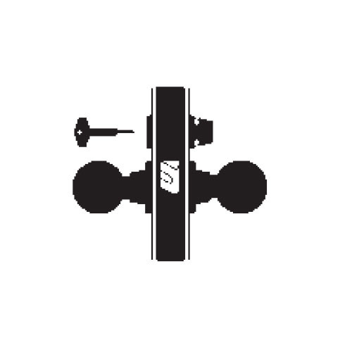 MA321-QN-606 Falcon Mortise Locks MA Series Privacy QN Lever with Escutcheon Style in Satin Brass