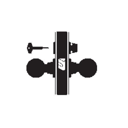 MA321-DN-605 Falcon Mortise Locks MA Series Privacy DN Lever with Escutcheon Style in Bright Brass