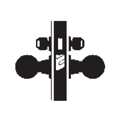 MA371P-HN-626 Falcon Mortise Locks MA Series Store Door HN Knob with Escutcheon Style in Satin Chrome