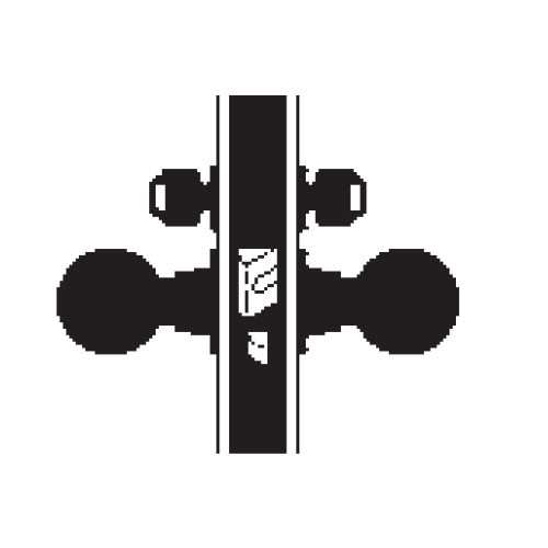 MA411P-HN-630 Falcon Mortise Locks MA Series Asylum HN Knob with Escutcheon Style in Satin Stainless