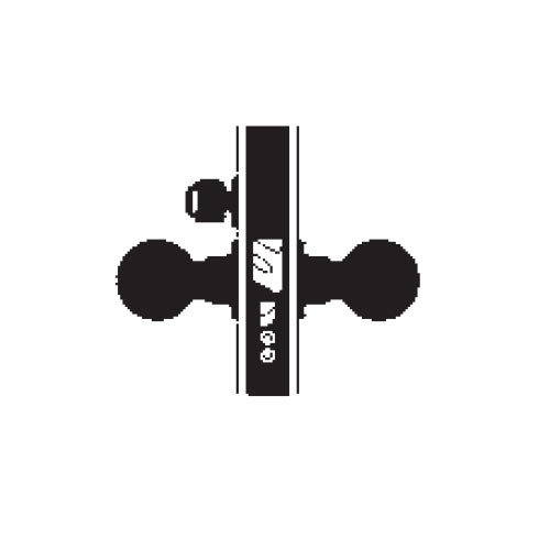 MA521BD-AN-613 Falcon Mortise Locks MA Series Entry/Office AN Lever with Escutcheon Style Prepped for SFIC in Oil Rubbed Bronze