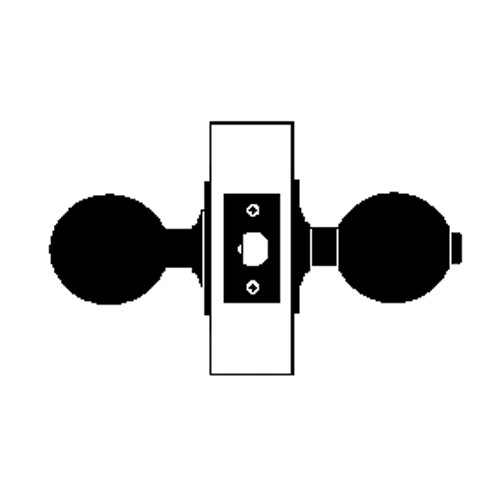 X301S-EG-605 Falcon X Series Cylindrical Privacy Lock with Elite-Gala Knob Style in Bright Brass