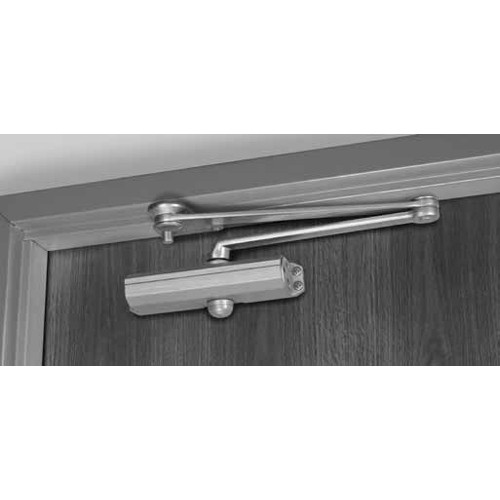 CLP1601T-696 Norton 1600 Series Hold Open Adjustable Door Closer with CloserPlus Arm in Satin Brass Painted