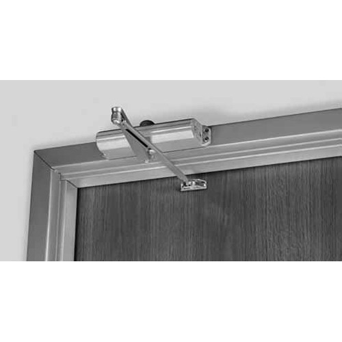 J1601-696 Norton 1600 Series Non Hold Open Adjustable Door Closer with Top Jamb-Reveals 2-3/4 to 7 in Satin Brass Painted