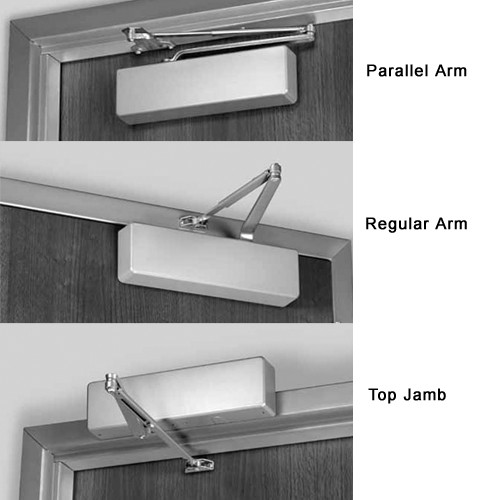 7500-691 Norton 7500 Series Non-Hold Open Institutional Door Closer with Regular Parallel or Top Jamb to 3 inch Reveal in Dull Bronze