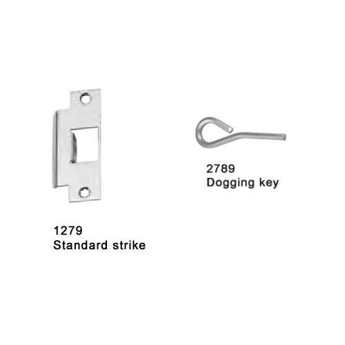25-M-NL-US28-4-RHR Falcon 25 Series Mortise Lock Devices with 512NL Night Latch Trim in Anodized Aluminum