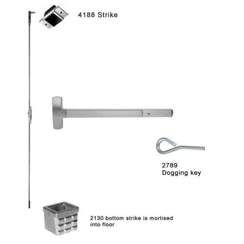 25-C-DT-US32-2 Falcon Exit Device in Polished Stainless Steel