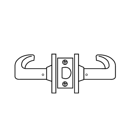 28-65U15-KB-03 Sargent 6500 Series Cylindrical Passage Locks with B Lever Design and K Rose in Bright Brass