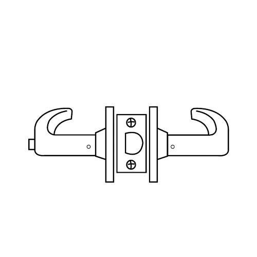 28-65U65-KP-03 Sargent 6500 Series Cylindrical Privacy Locks with P Lever Design and K Rose in Bright Brass