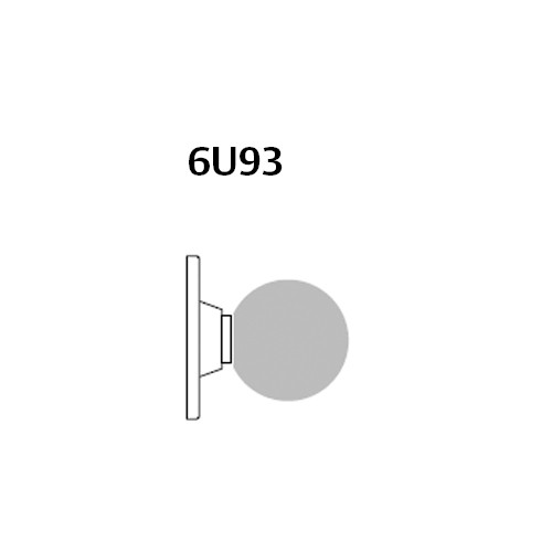28-6U93-BS-10 Sargent 6 Line Series Knob Single Lever Pull with S Knob Design and B Rose in Dull Bronze
