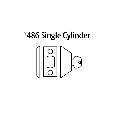 486-10B Sargent 480 Series Single Cylinder Auxiliary Deadbolt Lock with Blank Plate in Oil Rubbed Bronze