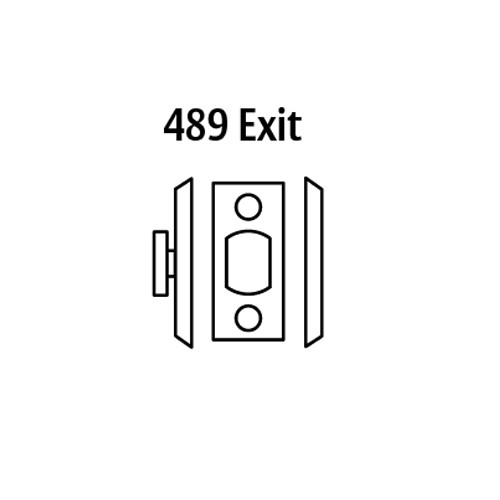 20-489-03 Sargent 480 Series Thumbturn Auxiliary Deadbolt Lock with Blank Plate in Bright Brass