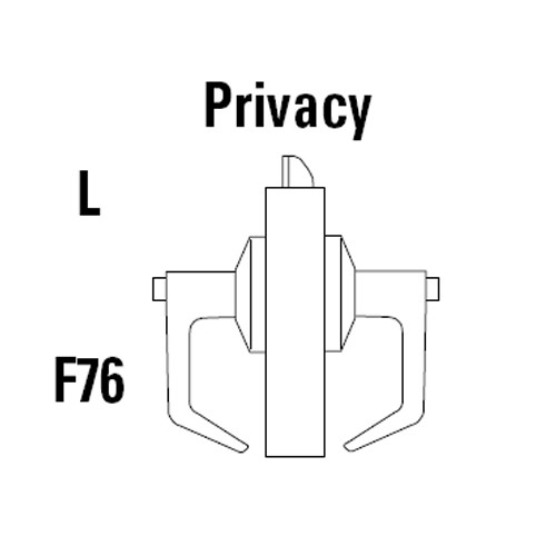 9K30L16DS3618 Best 9K Series Privacy Heavy Duty Cylindrical Lever Locks with Curved Without Return Lever Design in Bright Nickel