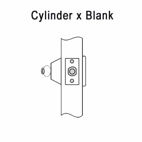 DL3211-606 Corbin DL3200 Series Cylindrical Deadlocks with Single Cylinder w/ Blank Plate in Satin Brass