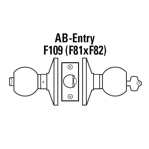 6K27AB6CSTK626 Best 6K Series Medium Duty Office Cylindrical Knob Locks with Tulip Knob Style in Satin Chrome
