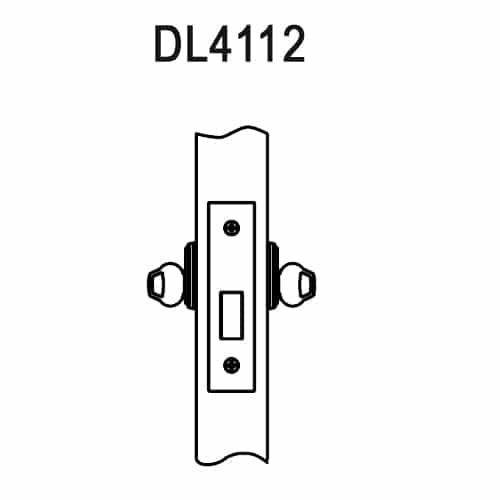 DL4112-618-CL6 Corbin DL4100 Series IC 6-Pin Less Core Mortise Deadlocks with Double Cylinder in Bright Nickel