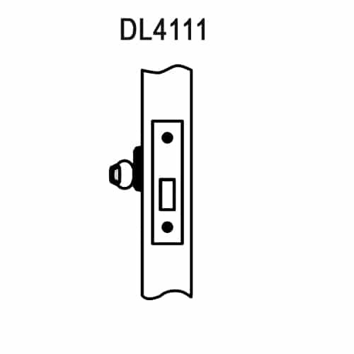 DL4111-605-CL6 Corbin DL4100 Series IC 6-Pin Less Core Mortise Deadlocks with Single Cylinder w/ Blank Plate in Bright Brass