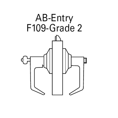 7KC27AB16DS3606 Best 7KC Series Entrance Medium Duty Cylindrical Lever Locks with Curved Without Return Lever Design in Satin Brass
